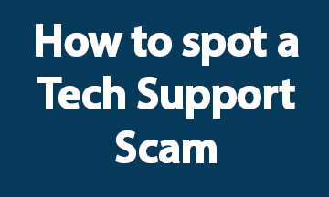 How to spot a tech support scam blue
