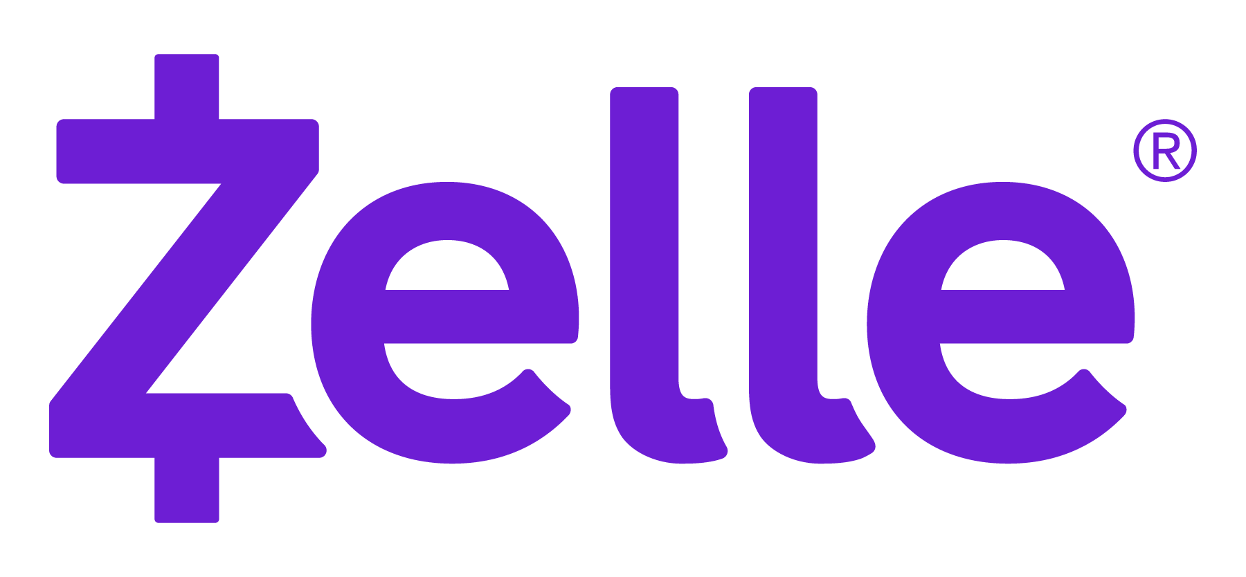 Zelle logo no tagline RGB purple